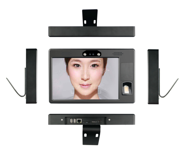 10.1 inch  smart face and fingerprint identification system