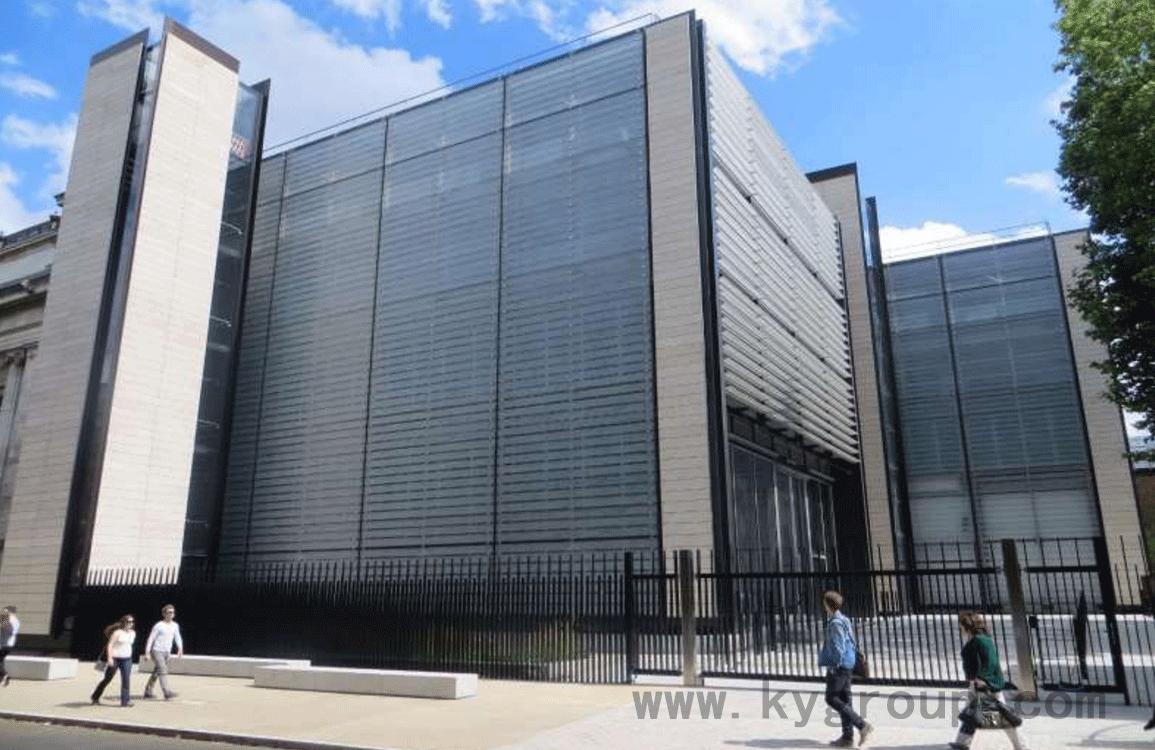 大英博物館流沙藝術浮法玻璃幕墻