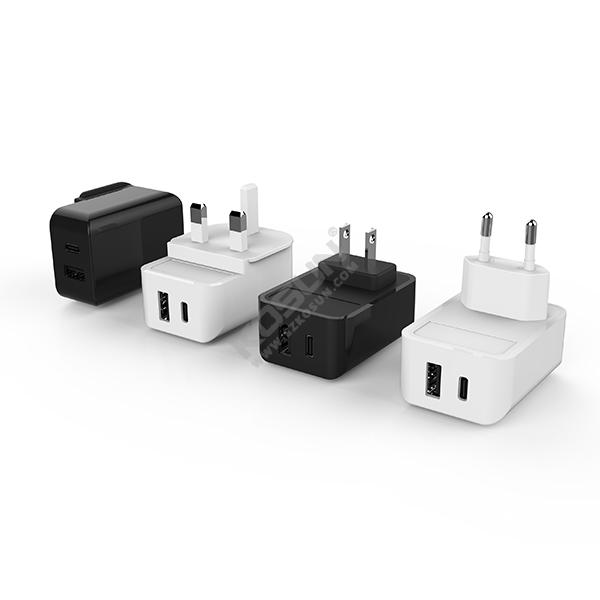 17W USB-C & USB-A European Wall Charger