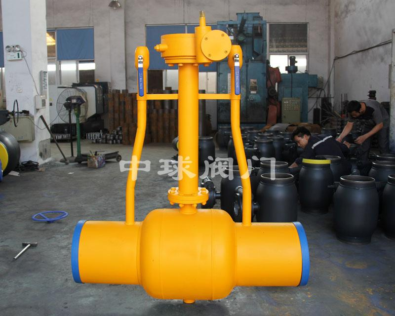 Dispersed fully welded ball valve 03