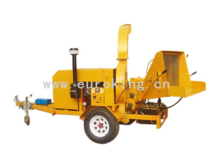 Double Automatic Lifting Arms Diesel Wood Chipper