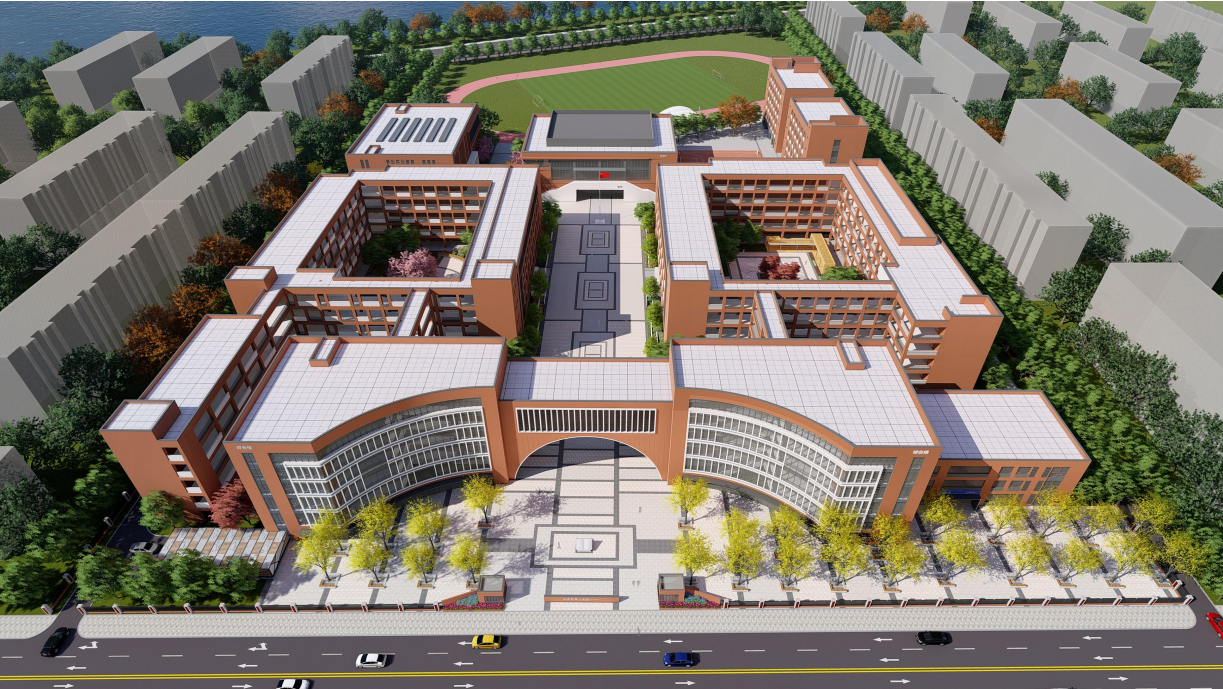 米脂縣米西區九年一貫制學校景觀設計