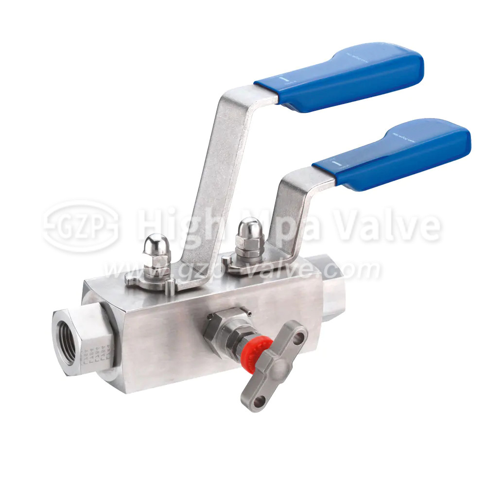NPT stainless steel DBB ball valve