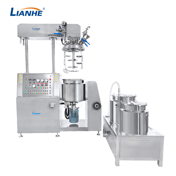 VME-100L Vacuum Emulsifying Mixer-Buttom Homogenizer Design