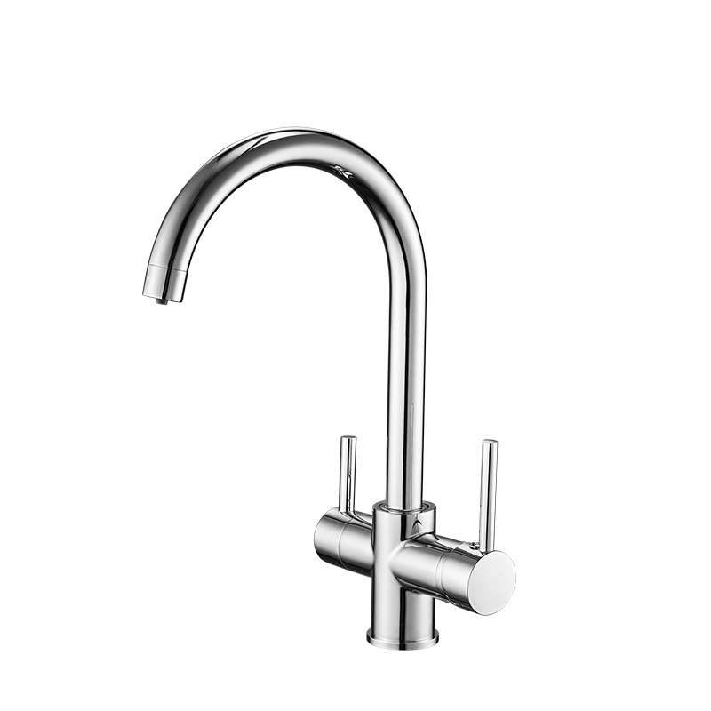 FLG chrome brass dual handles  purified kitchen faucets