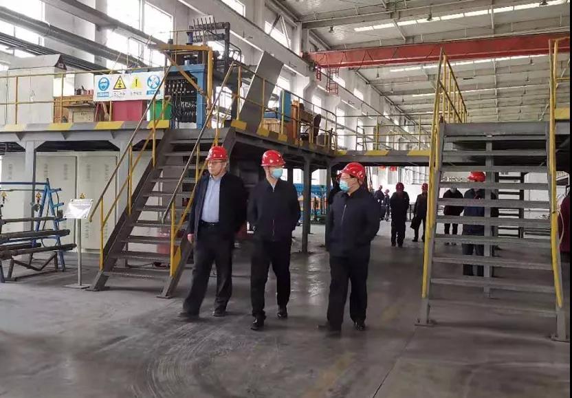 洛阳市国资委主任常涌涛到洛铜宜阳工业园参观调研