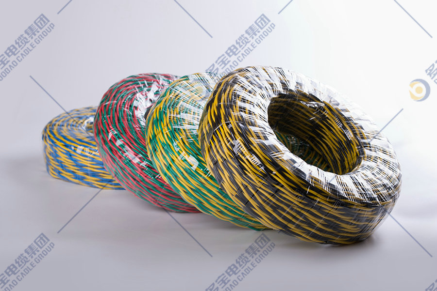 Copper-conductor PVC flexible insulated stranded wire for connection purpose