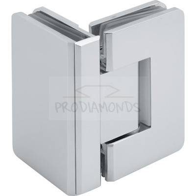 Square Round Corner Economy Shower Hinge 90 Degree Glass to Glass