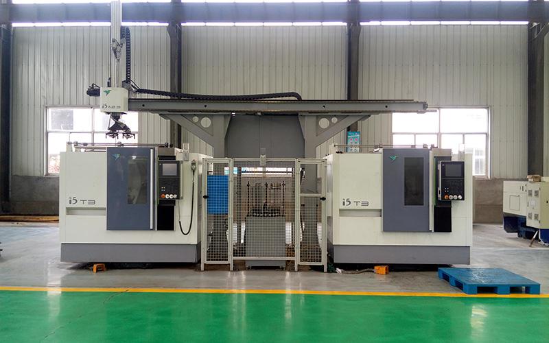 桁架式工業機器人法蘭生產線
