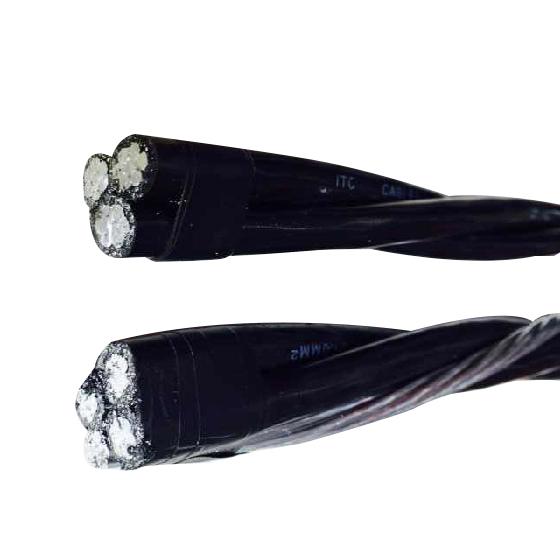 2、 10KV 钢芯铝绞线聚乙烯绝缘架空电缆 JKL GYJ-10