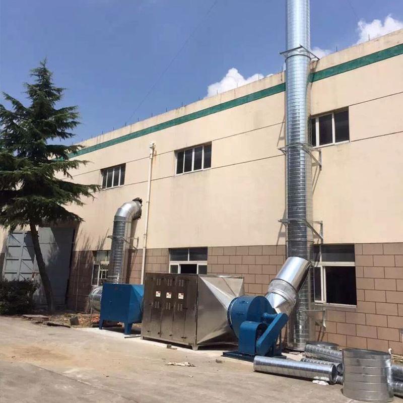 油漆廠廢氣處理案例