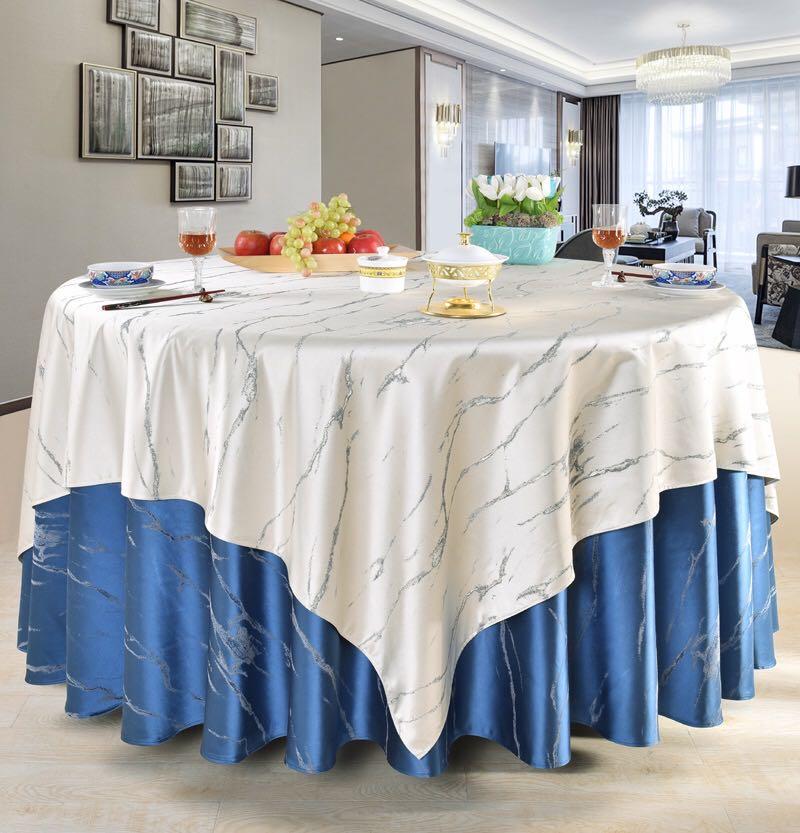 君芝友酒店專用桌布大圓桌餐桌臺布餐廳飯店圓形宴會臺布布藝JZY-TB-064