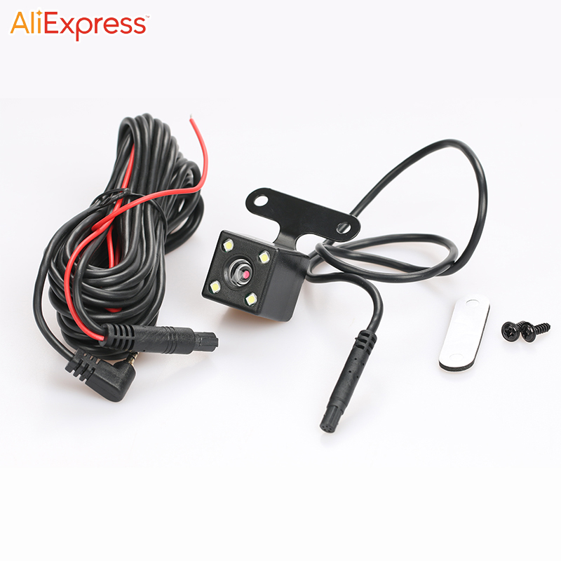 Car rear view DVR camera 5-pin to 2.5mm extension cable