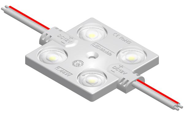 MFW149A1四燈方形1.32W 2835帶透鏡恒壓注塑模組