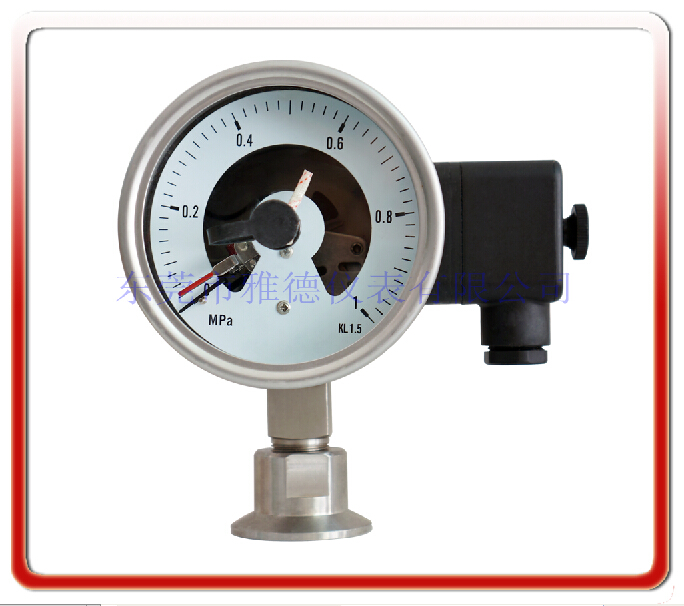衛生級快裝型電接點壓力表(德國款式)