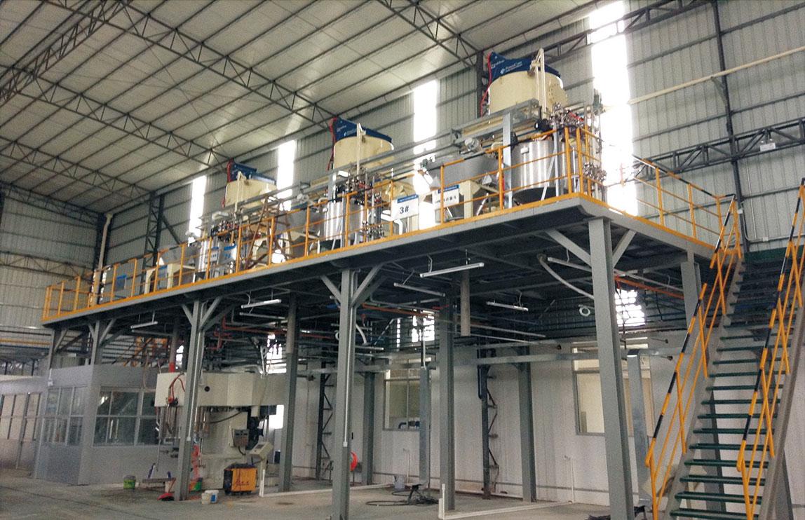 防水建材粉體自動化輸送系統工程