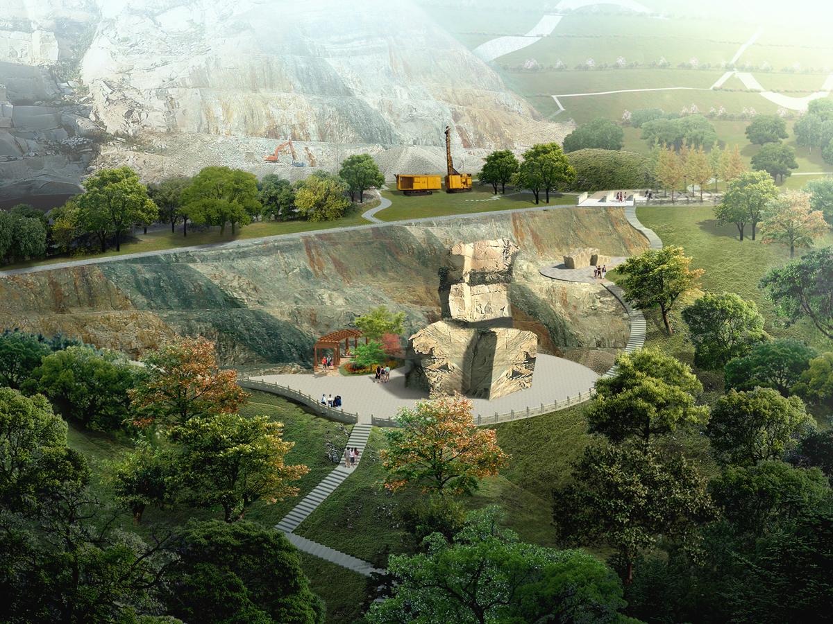 杭州市石龍山南側廢棄礦區地質環境治理