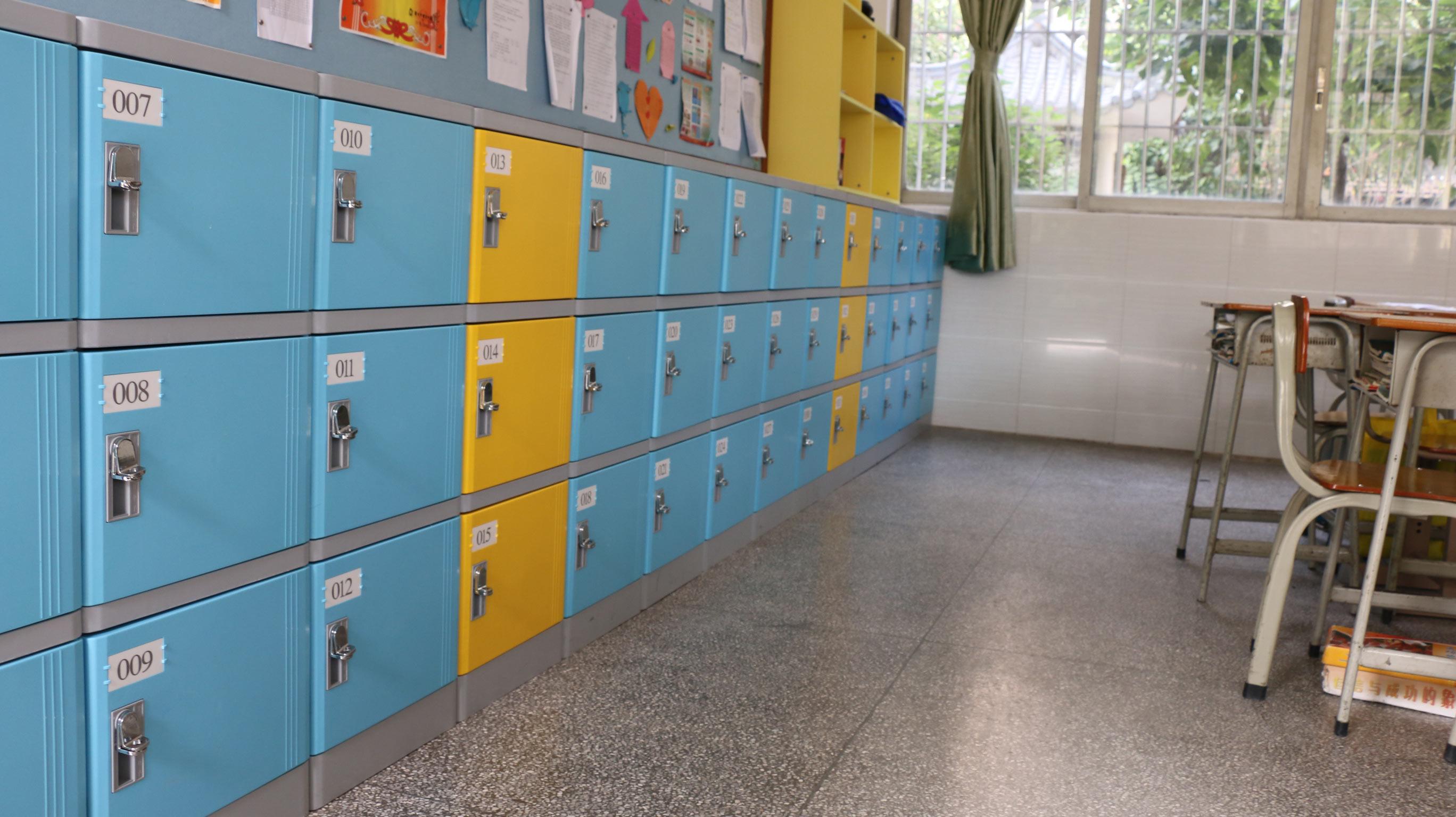 廣州礦泉中學塑料書包柜