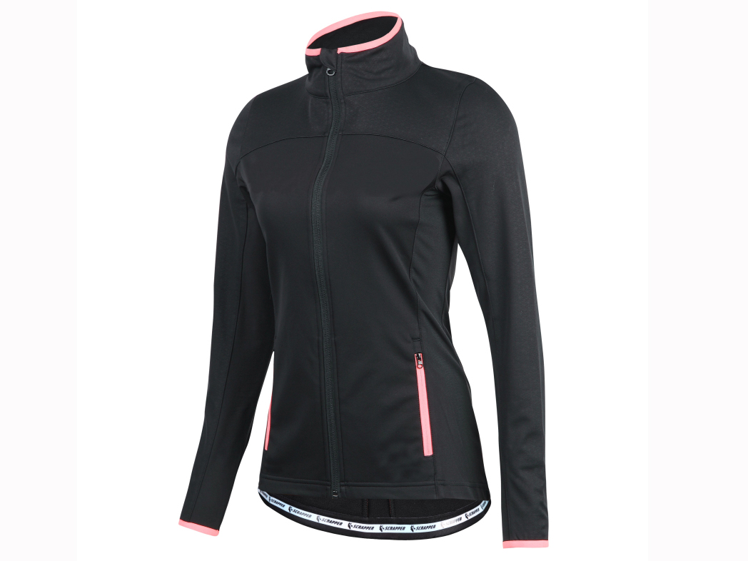 Women's knitted bicycle long sleeve zipper winter jacket.