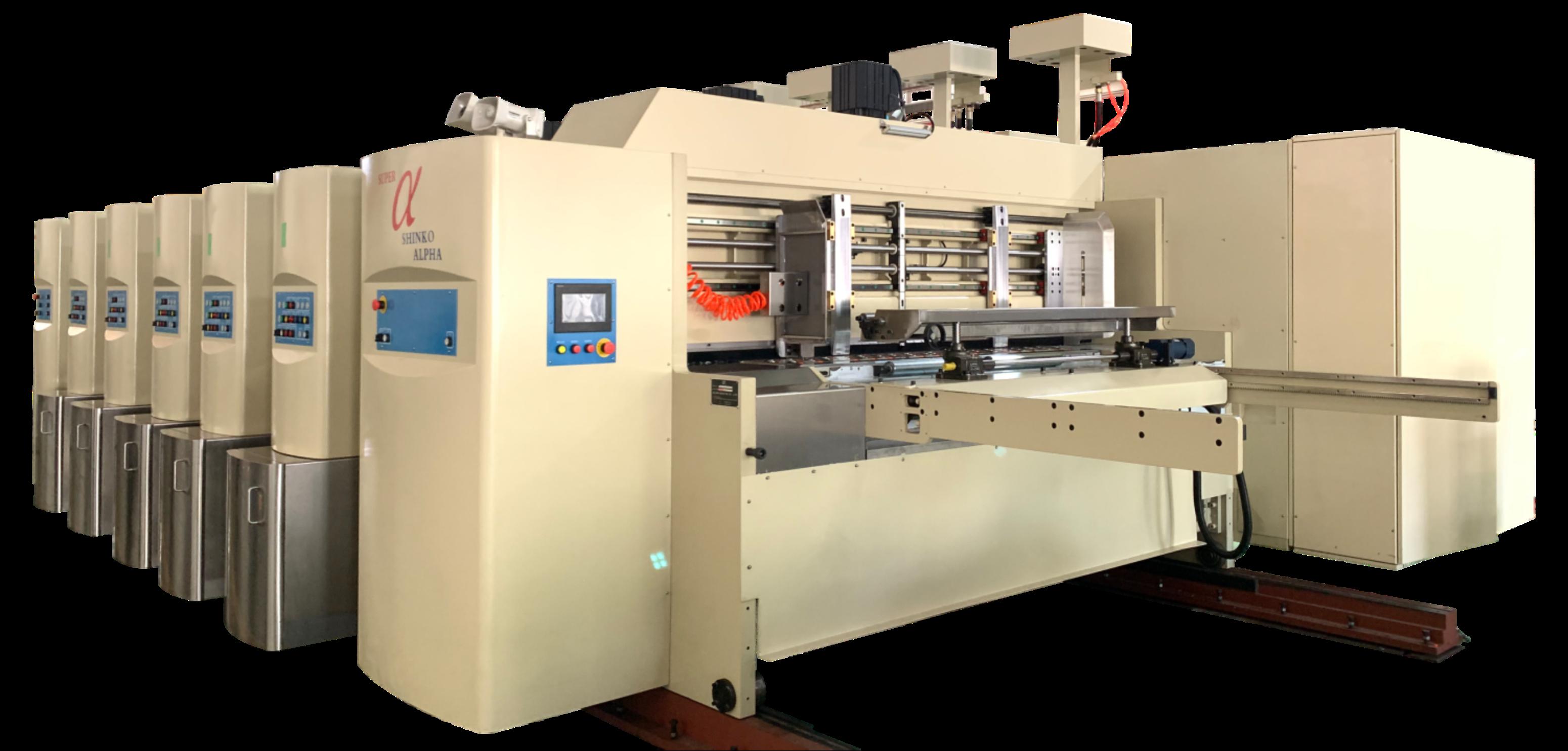 Sα-型移動式全伺服水性印刷硬模切機