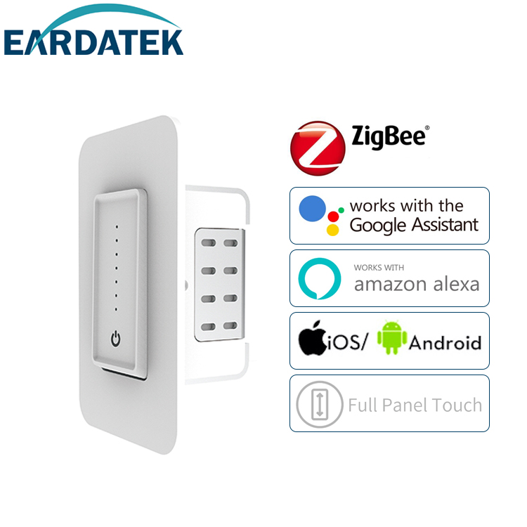 Touch smart dimmer switch ZigBee neutral US