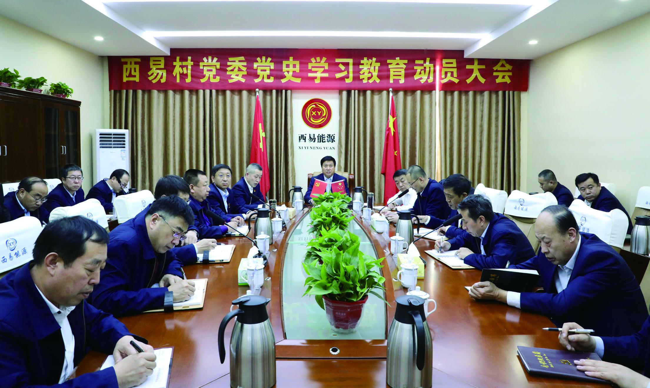 西易村党委召开党史学习教育动员大会