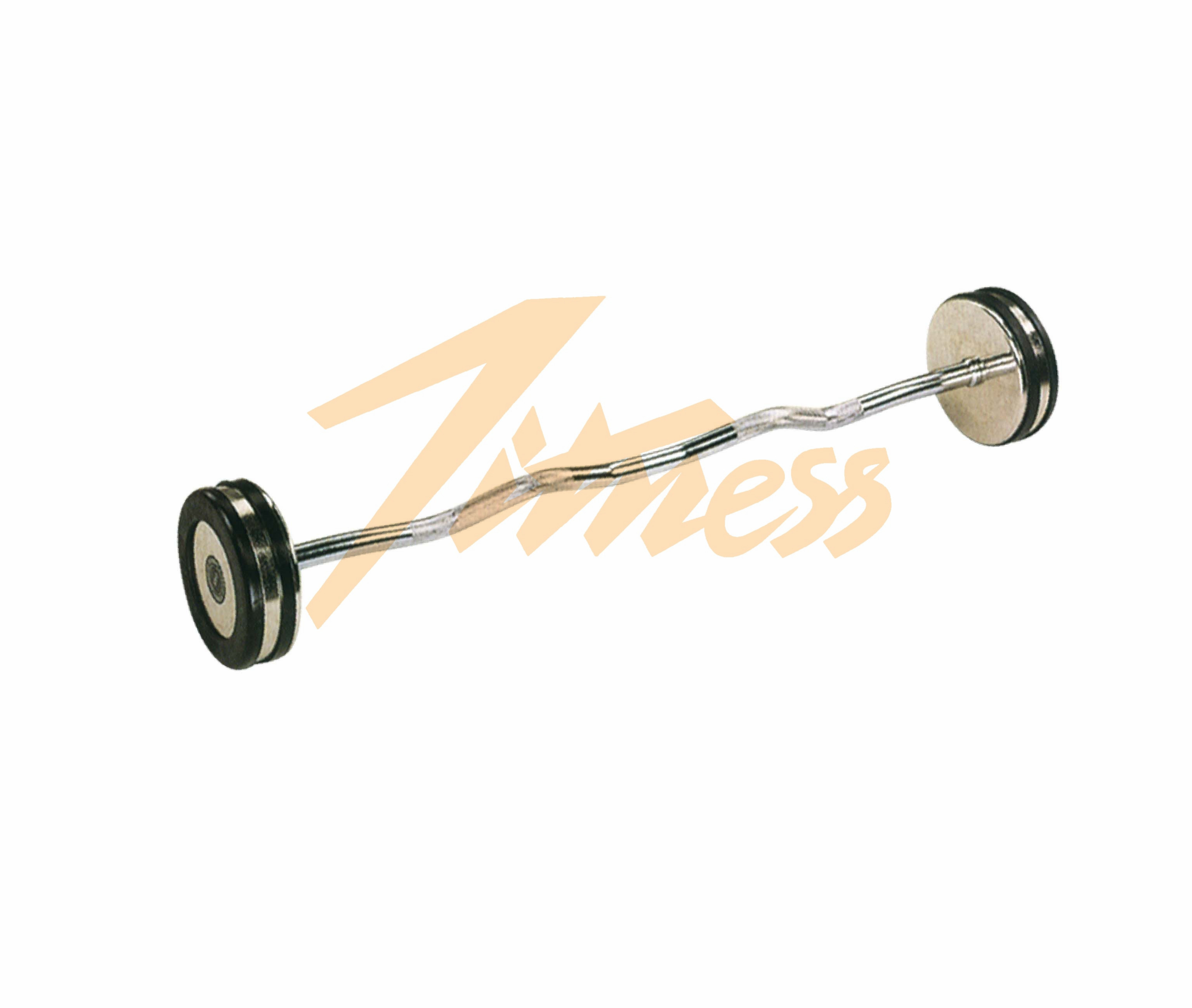 CHROMED BARBELL WITH RUBBER RING