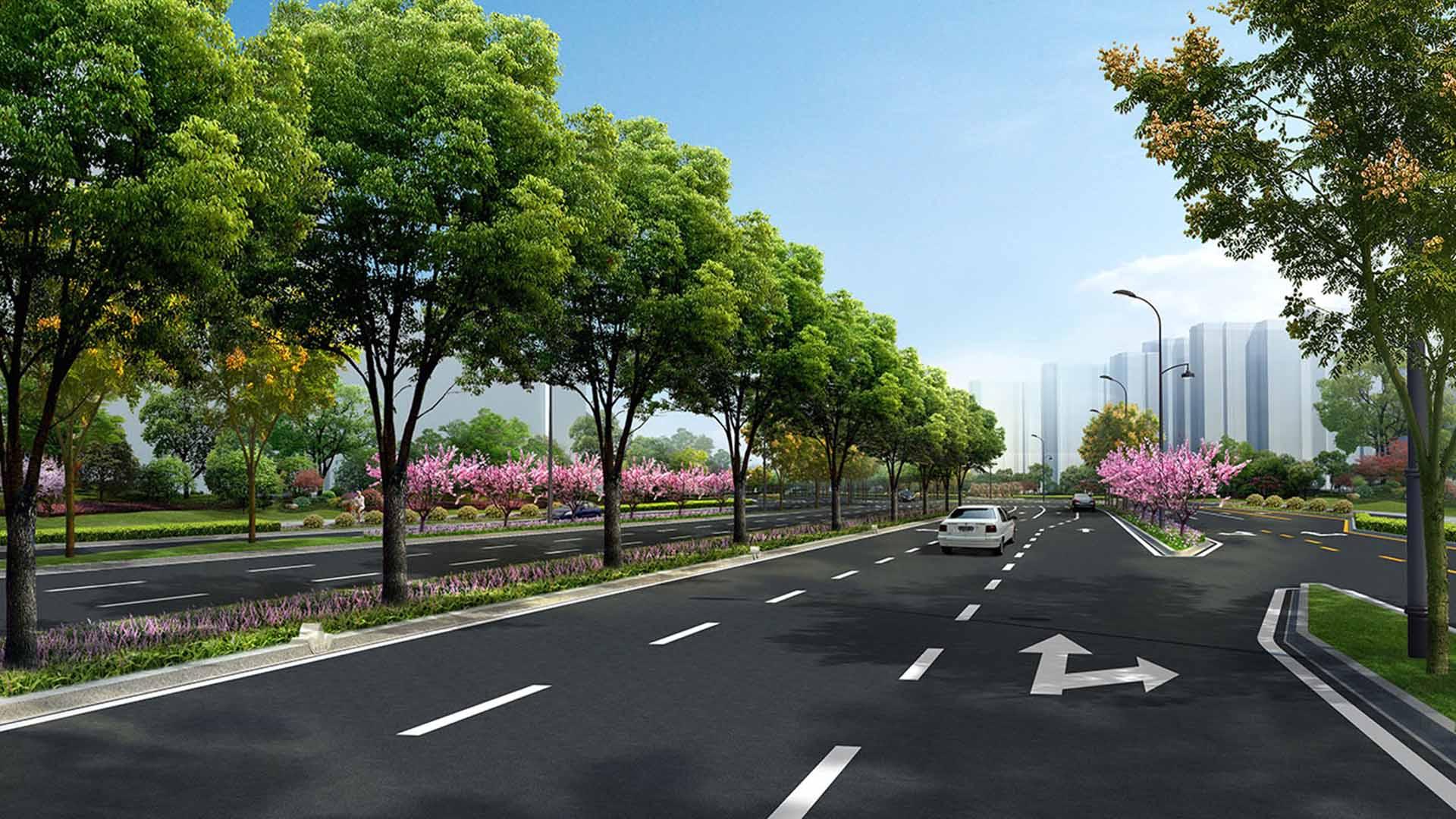 2019--迎宾大道改造提升工程(沪杭高速以南段)一标段 (效果图)