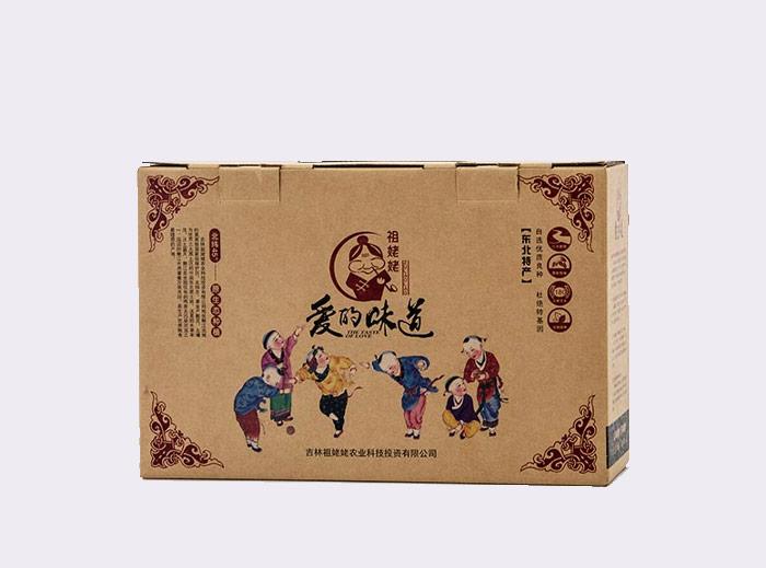祖姥姥特產包裝紙箱