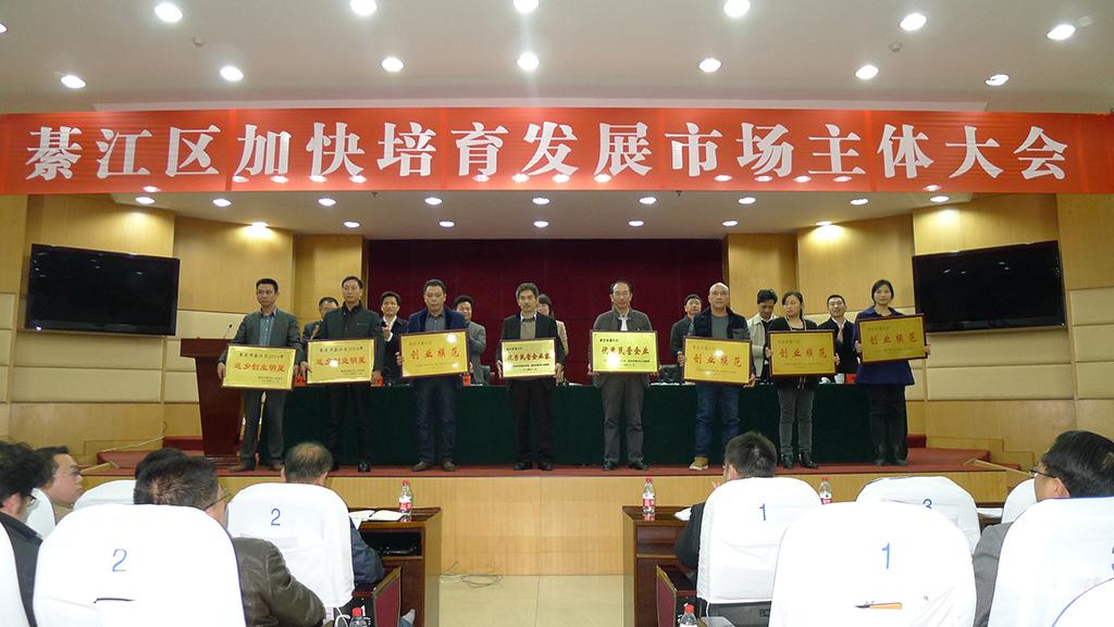 我公司于2014年12月8日在綦江人民政府召開的大會中收獲《優秀民營企業》稱號,祝賀!