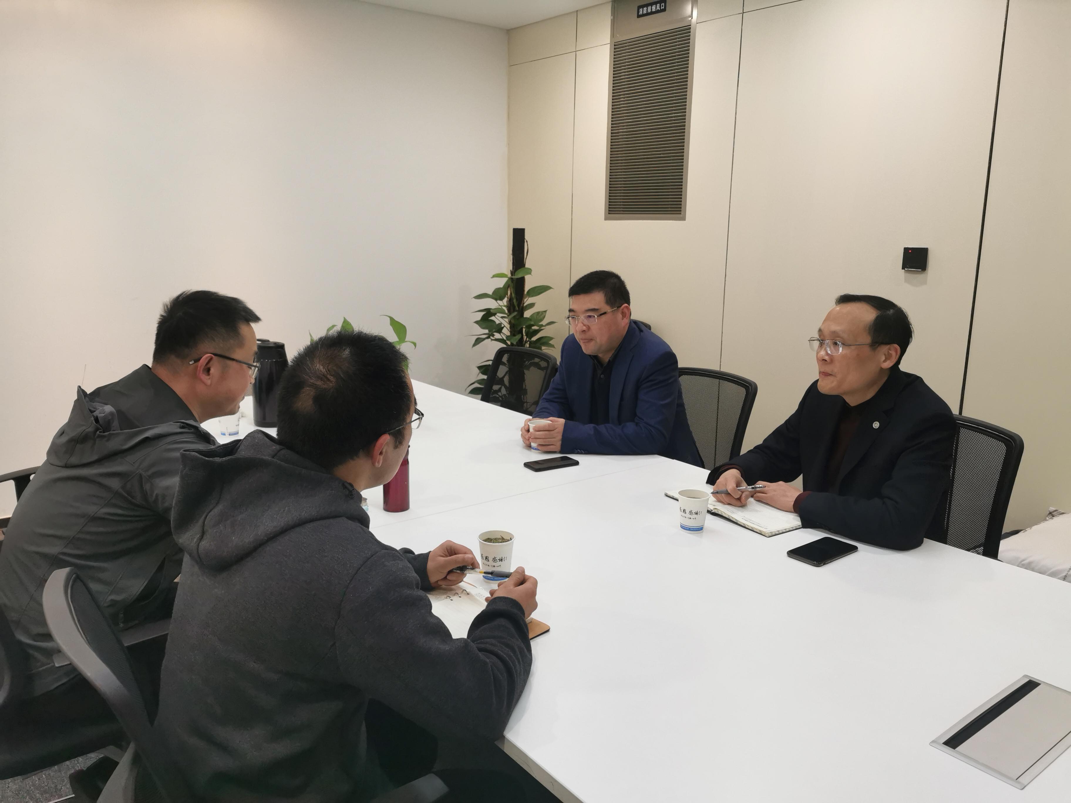 浙江公司張紅光總經理蒞臨杭州公司進行調研