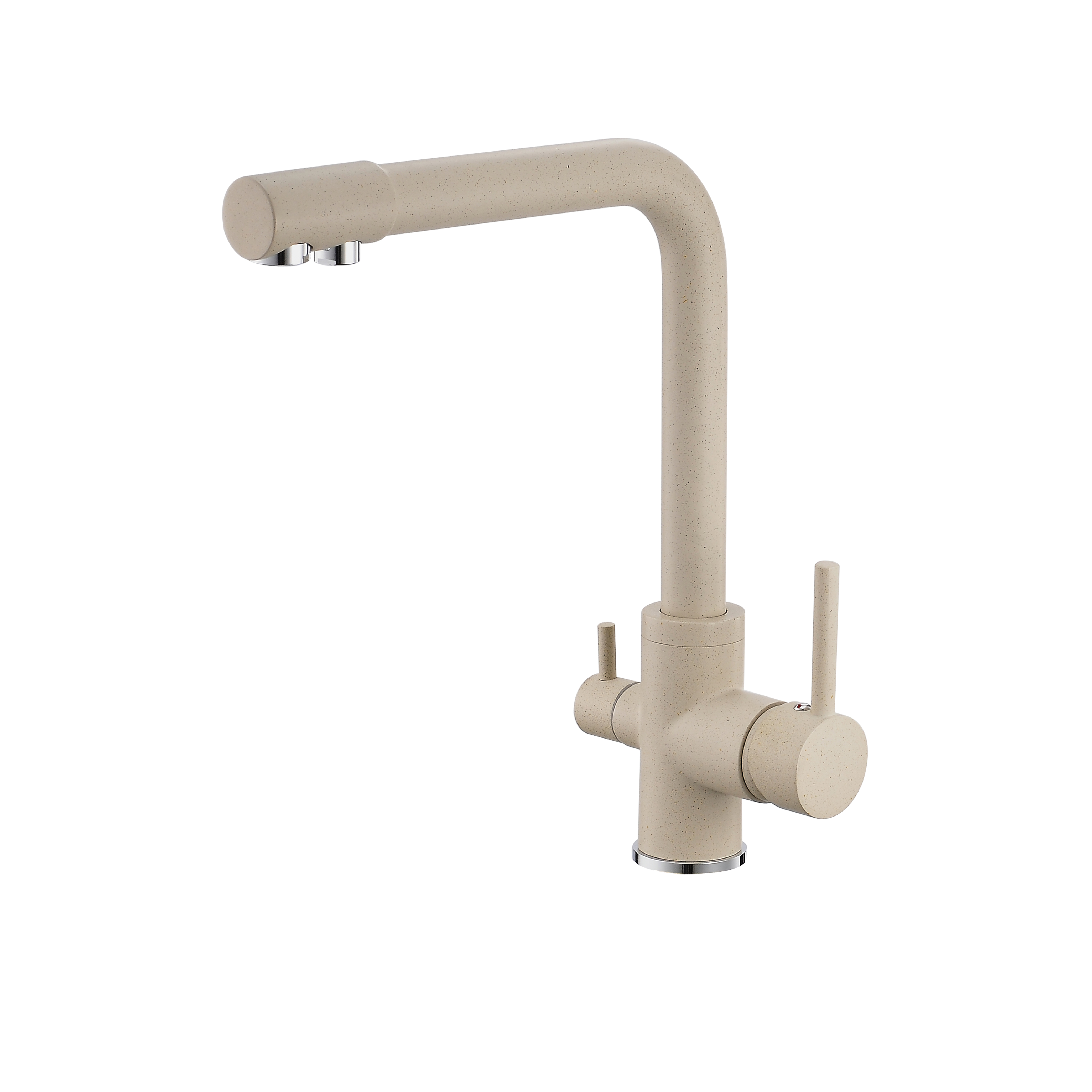 FLG Oatmeal Brass One-Handle High quality Purified Faucet