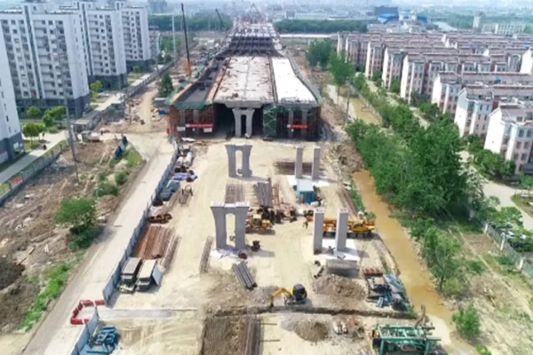 江蘇省泰州市永定路高架橋(現澆)