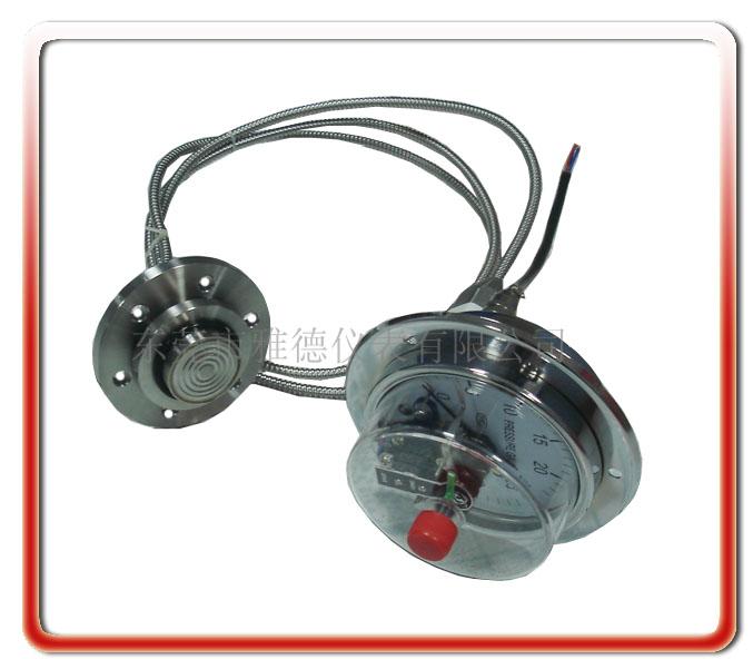 軟管連接隔膜式電接點壓力表