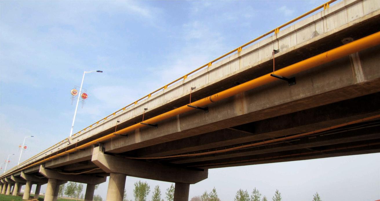 陜西渭南渭河大橋隨橋敷設燃氣管道工程