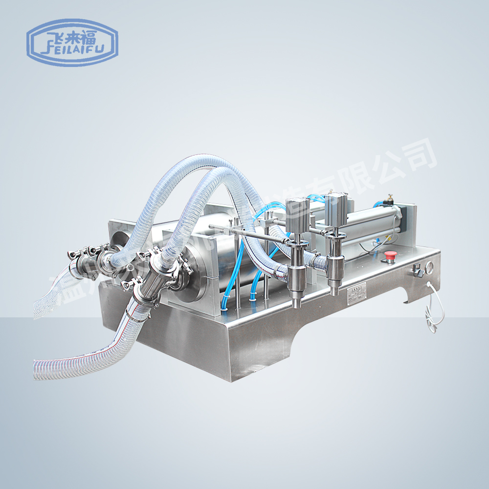 Double head pneumatic liquid filling machine