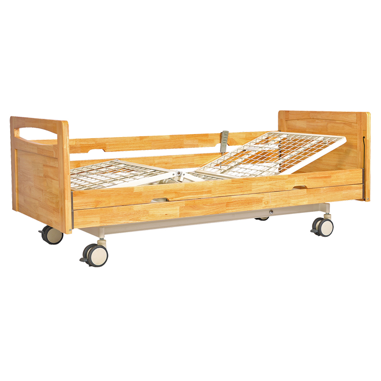 Three function electric wooden home care bed home medical bed