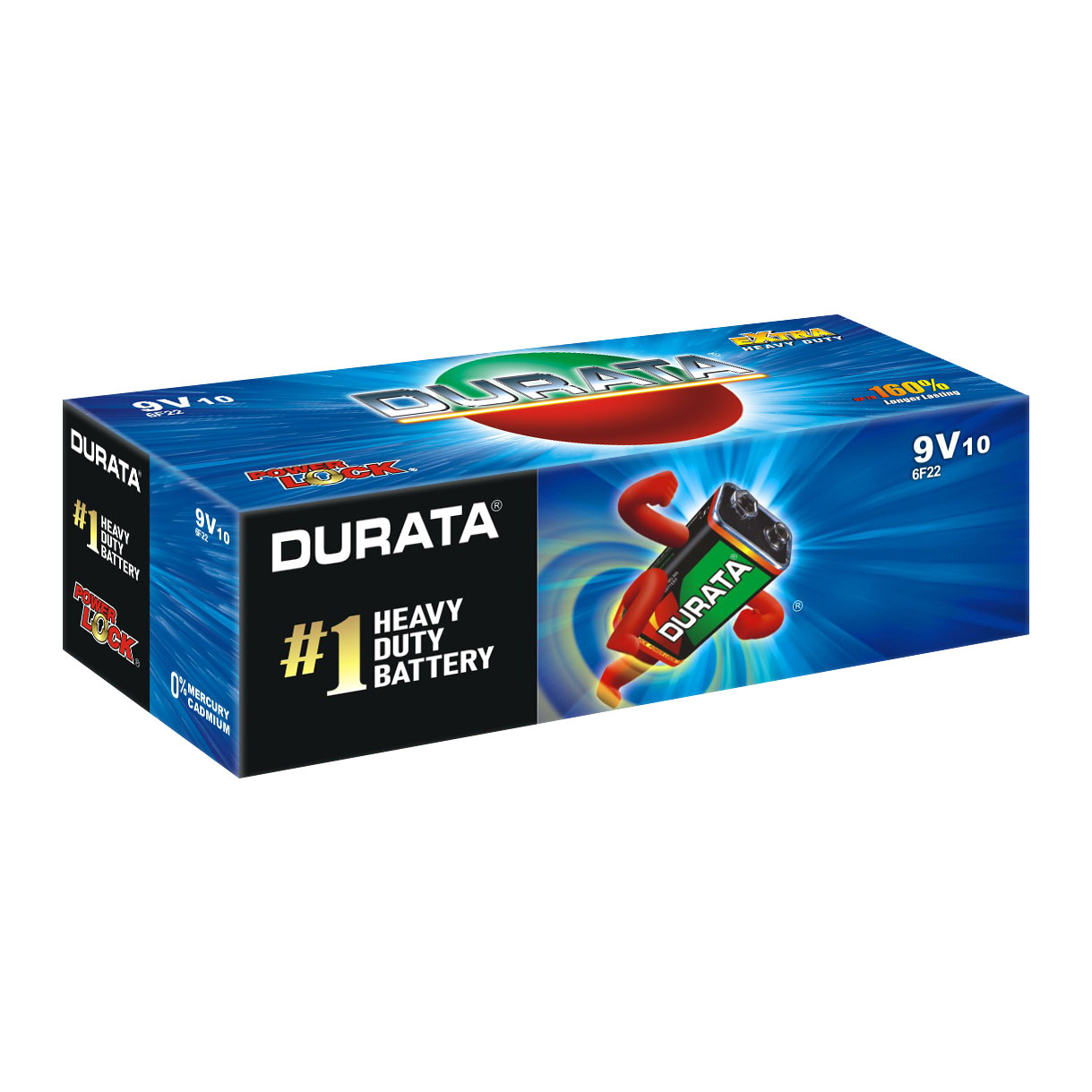 DURATA 9V - Shrink Pack 1 Battery - box