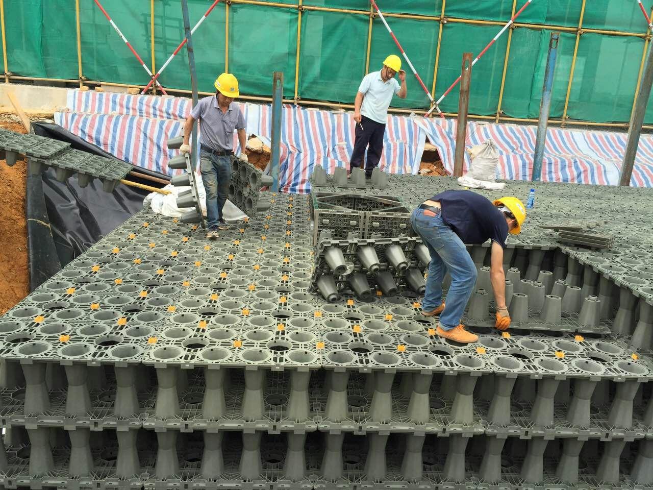 清遠市_廣場雨水收集模塊水池項目