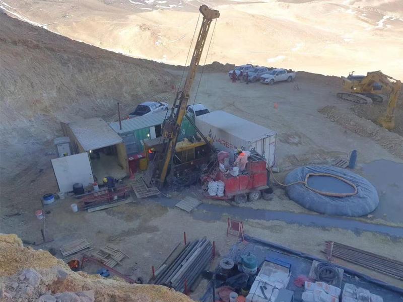HYDX-6型全液壓巖心鉆機在阿根廷5600米海拔工地施工中