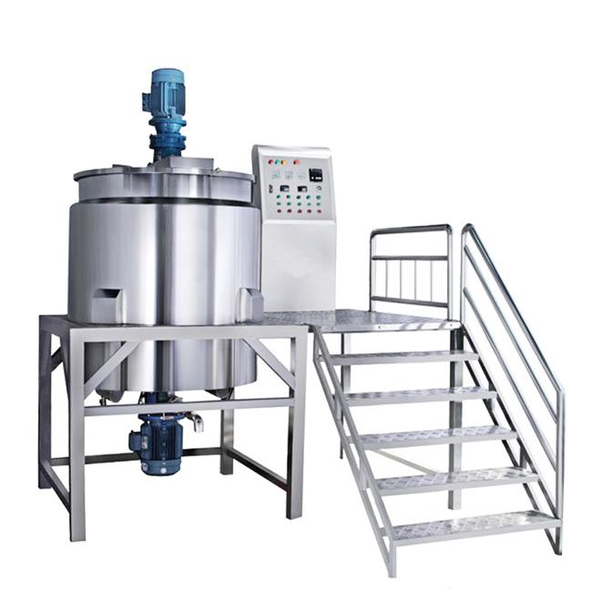 Stainless Steel Double Jacketed Liquid Mixing Tank