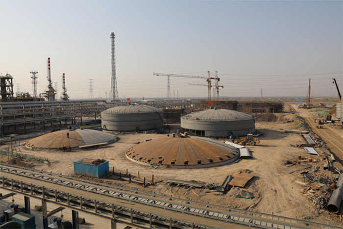 800 cubic meters / hour sewage treatment project construction progress report