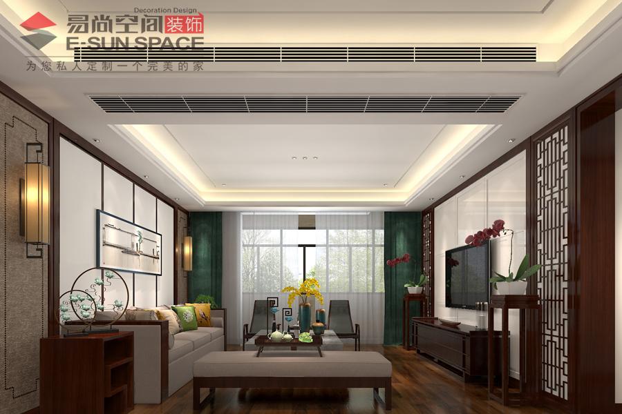 東港國際5號樓錢先生雅居--中式風格