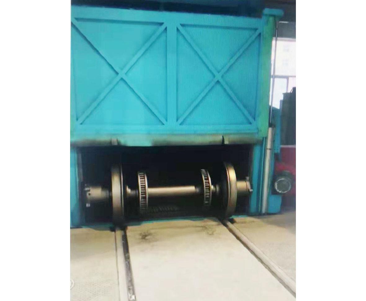 西安鐵路局車輛段KPL-1型輪對式全自動拋丸機