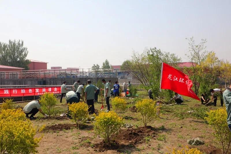 """亚博ag旗舰厅开展""""助力碳中和、绿色新生活""""主题植树活动"""