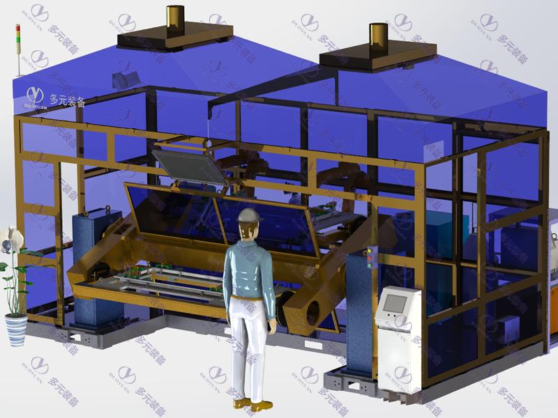 汽車零部件行業:艙門骨架焊接工作站