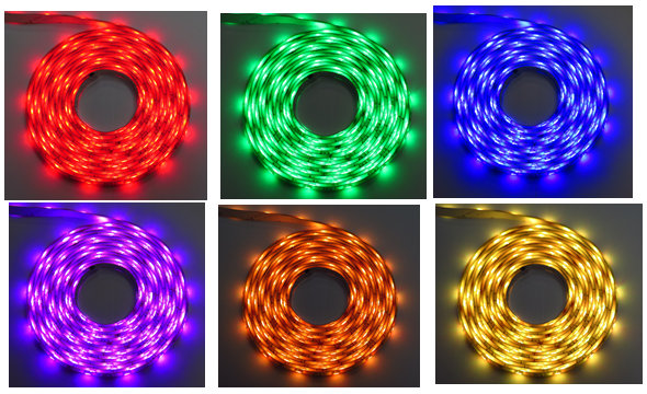 RGB LED strip 30led per meter IP65