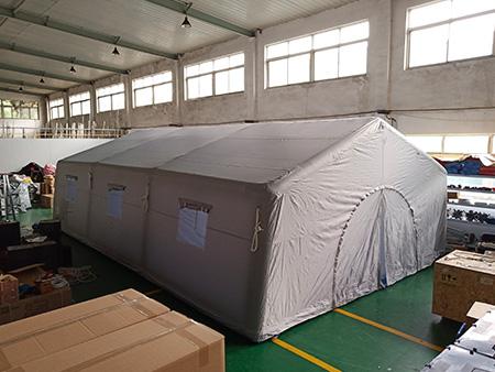 充氣帳篷單個60平(帆布連接)