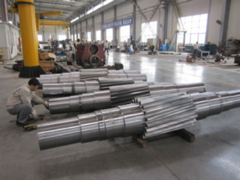 Large gear shaft for hydropower
