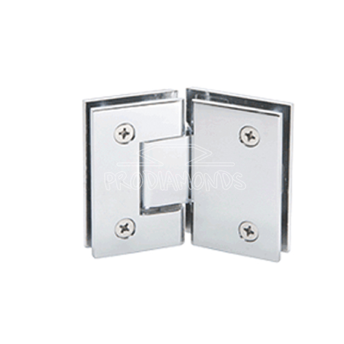 135 DEGREE SHOWER DOOR HINGE SQUARE CONNER CUT-OUT